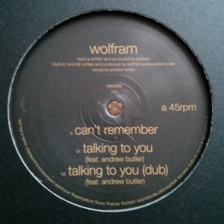 Can't Remember / Talking To You